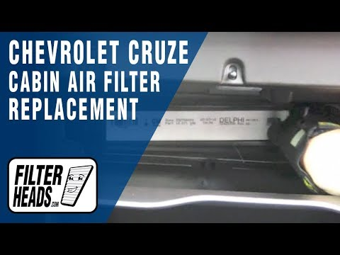 How To Replace Cabin Air Filter Chevrolet Cruze Youtube