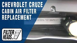 How to Replace Cabin Air Filter Chevrolet Cruze