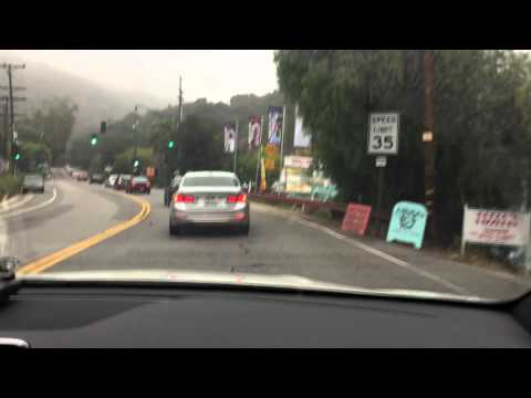 Los Angeles Scenic Drive Taken With Dashboard Cam - Malibu,