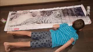 НОВИНКА! Новые стразы галлограмма! ОГРОМНЫЙ ТИГР  160 на 48 см! Алмазная вышивка из Китая