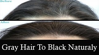 How to Reverse White Hair to Black Naturaly with Top 7 home Remedies
