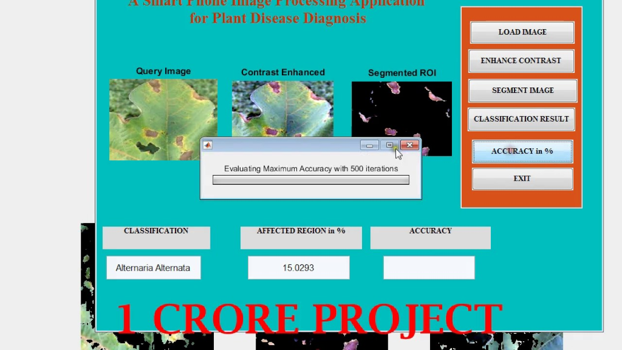 A smart phone image processing application for plant disease diagnosis