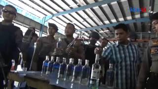 Segerombolan Pemuda Minum Minuman Ciu Diamankan Polisi