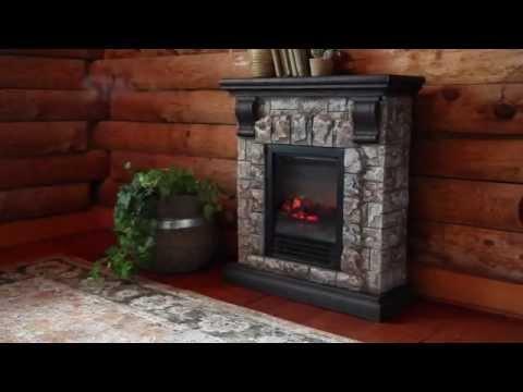 Faux Stone Electric Fireplace SKU# 13902 - Plow & Hearth
