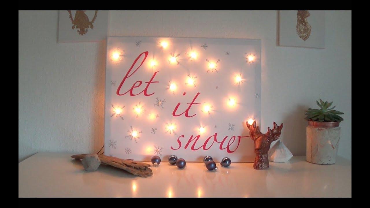 DIY Winter Room Decor: Ein Bild für Dein Zimmer - YouTube
