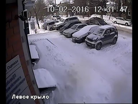 Случай на парковке Барнаул 10.02.2016 (Barnaul 22)