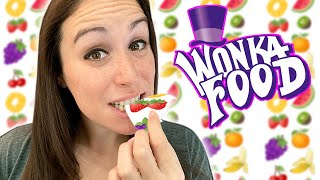 DIY Lick-able Wallpaper 🍋🍓🍇🍒🍉🥝🍊🍌 // Willy Wonka Food