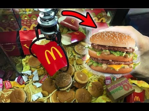 WON McDonald's FOOD FROM THE CLAW MACHINE! | JOYSTICK