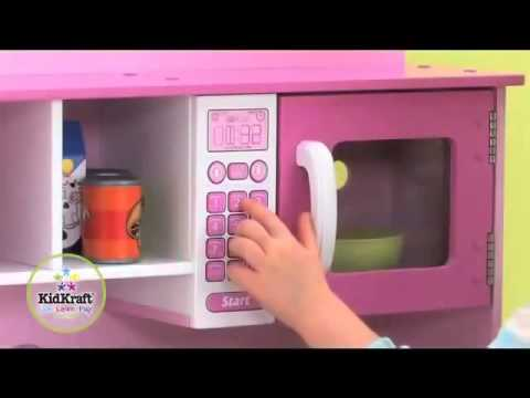 kidkraft toy kitchen themes decor home cooking 53198 girls pink play ...