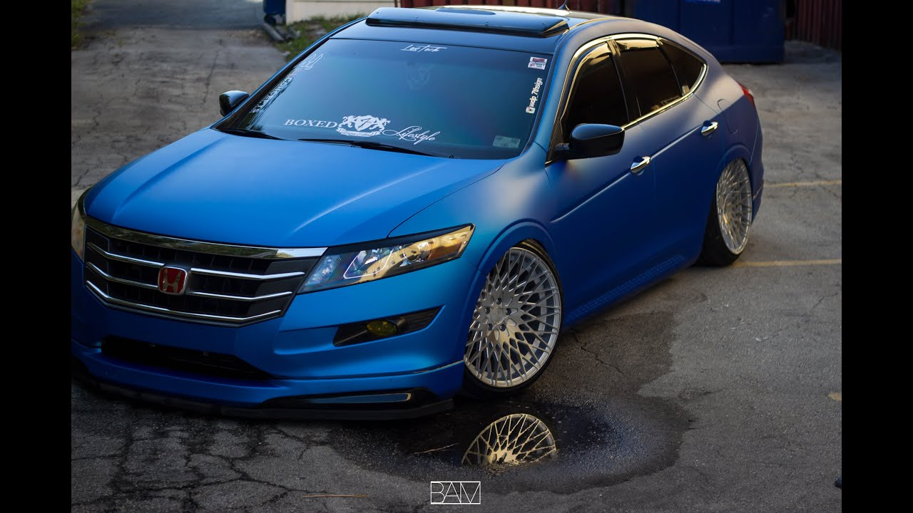 Build A Honda >> Car Showcase: Bagged Honda Crosstour - YouTube