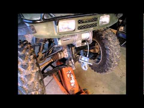 Honda Foreman Wiring Diagram Winch Installation On My Four Wheeler Youtube