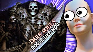 Down To ONE Life & RAGE!!!   Dark Souls Rogue Like Mod Funny Moments 6