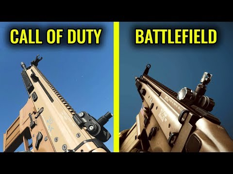 Modern Warfare 2019 Vs BATTLEFIELD 4 - Weapon Comparison