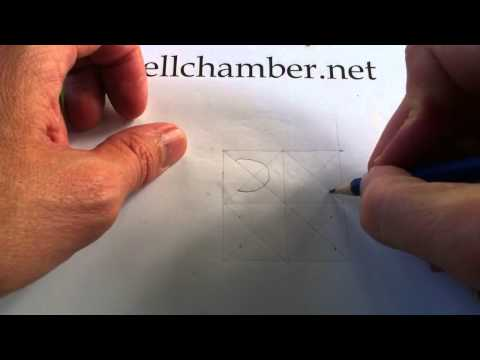 How to Draw Celtic Patterns 48 -  Celtic Square Triskele - 1of3