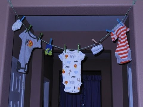 jussweetz economical baby shower clothes line, Baby shower