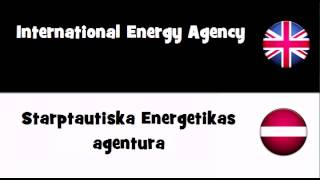 Say it in 20 languages # International Energy Agency