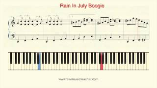 "How To Play Piano: ""Rain In July Boogie"" Piano Tutorial by Ramin Yousefi"