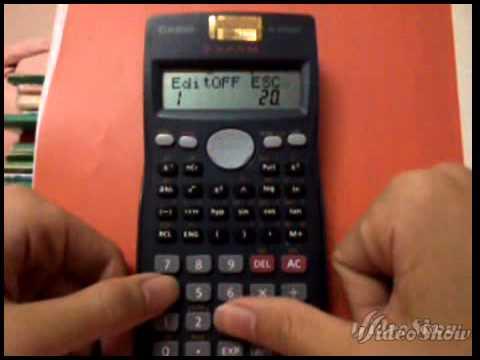 Cách tính tích phân trên fx 500 MS
