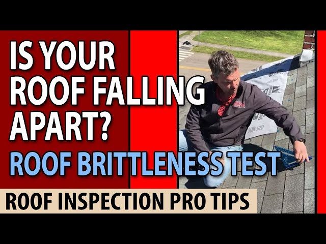 37917 Roof Brittleness Test - Shingle damages Knoxville TN