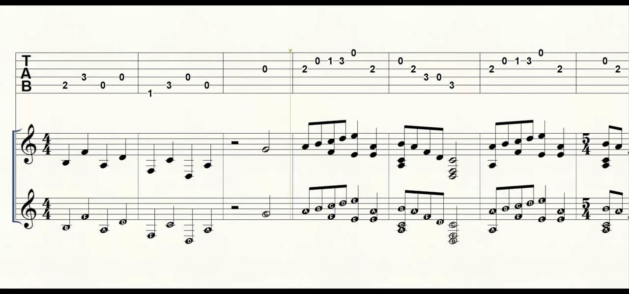 Piano piano tab sheet music : Guitar Tab Piano Minecraft Death How to Play - YouTube