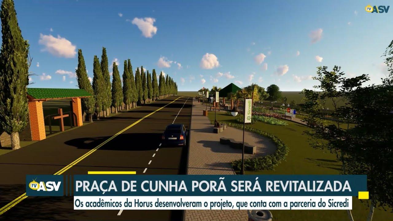 Alunos de engenharia civil criam projeto de revitalização de Praça de Cunha Porã-SC