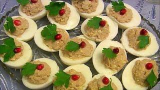 Фаршированные яйца с паштетом  Stuffed eggs are delicious and easy
