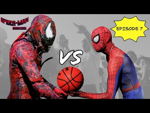 Spiderman Basketball Episode 7 …Spiderman vs Carnage… SuperHero bball