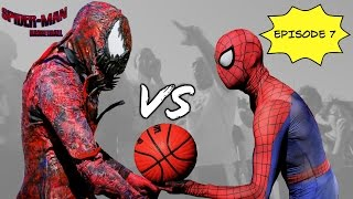 Repeat youtube video Spiderman Basketball Episode 7 ...Spiderman vs Carnage... SuperHero bball