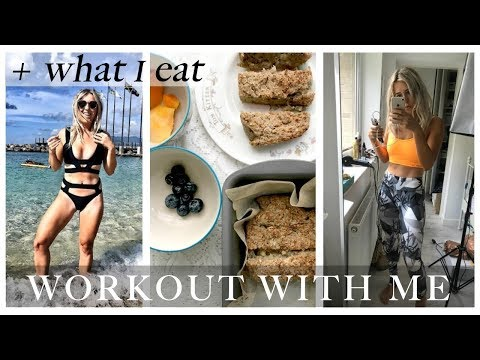 Workout With Me & What I Eat In A Day, Womens Gym Routine + Healthy Banana Bread Recipe ad