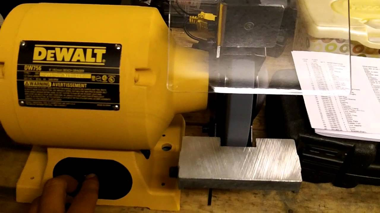 Dewalt Dw756 Bench Grinder Amp Echo Cs3450 Chainsaw Youtube