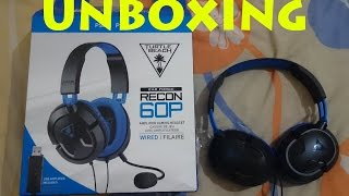 turtle beach ear force recon 60p unboxing