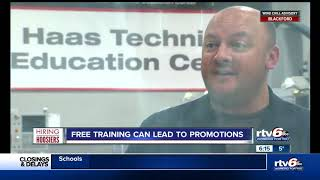 Hiring Hoosiers; Free training can lead to promotions