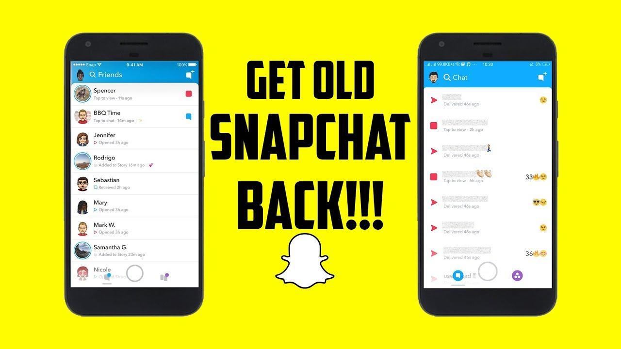 old snapchat update uptodown