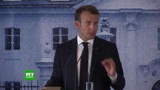 Emmanuel Macron et Angela Merkel s'expriment au terme de leur rencontre
