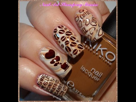 COFFEE Manicure with Uber Mini Coffee Addict from UberChic Beauty - Tutorial
