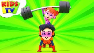 Exercise Song | The Supremes Cartoons | Kindergarten Nursery Rhymes For Children - Kids TV