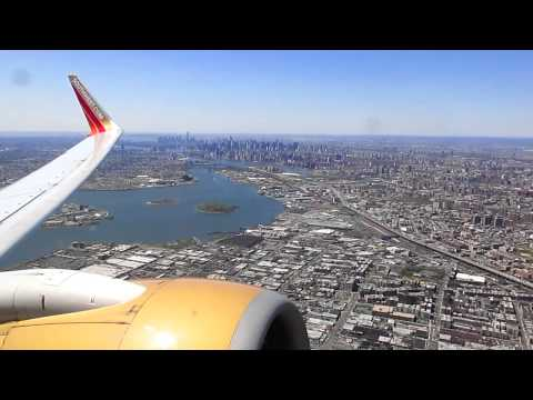 Takeoff from New York - La Guardia Airport Southwest Airlines Boeing 737-700