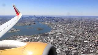Takeoff from New York - La Guardia Airport. Southwest Airlines Boeing 737-700