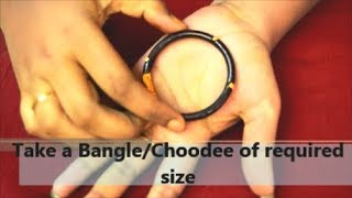 How to Apply Mehndi Design with Help of Bangles/Choodee | Mehndi with Bangle