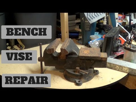 Bench Vise Rebuild For FREE!!! Saved from the Scrap Yard