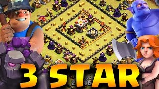 HOW TO 3 STAR TH10 - TH11 SQUARE/RING BASES WITH GOVABO/BONER | Clash of Clans
