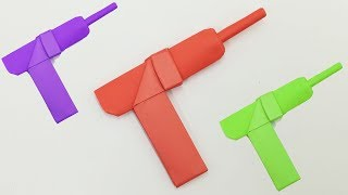 How to Make a Paper Gun | Origami Weapons For Kids Craft Ideas | Gun Toys