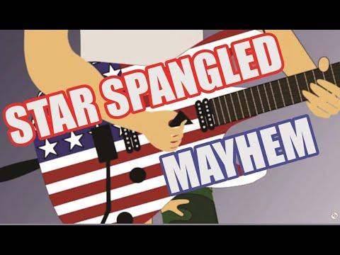 Star Spangled Banner Mayhem Rock Guitar Solo Anima Youtube