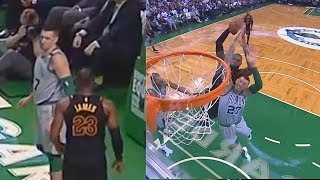 LeBron James Stares Down Daniel Theis After Almost Ending His Career with Dunk!