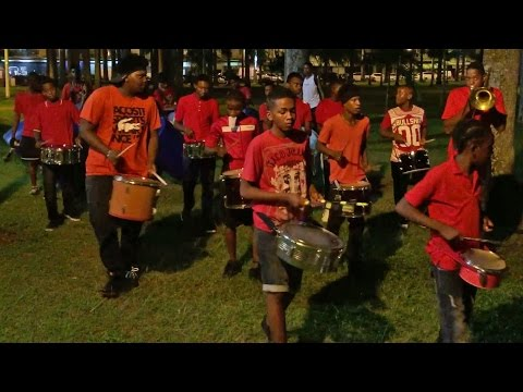 Drummers in Cayenne, French Guiana