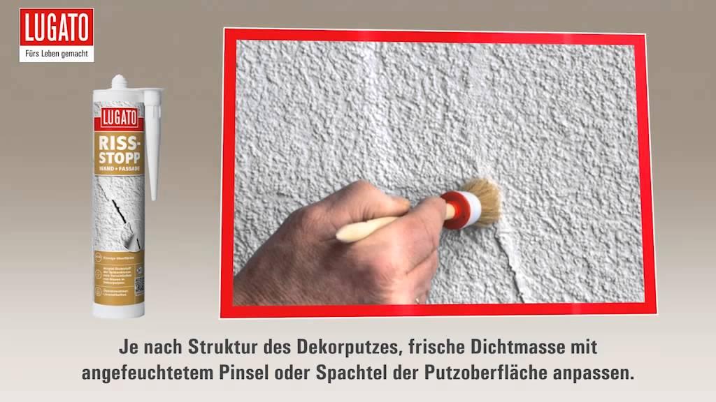 Risse in Putz reparieren und abdichten mit RISS-STOPP WAND ...