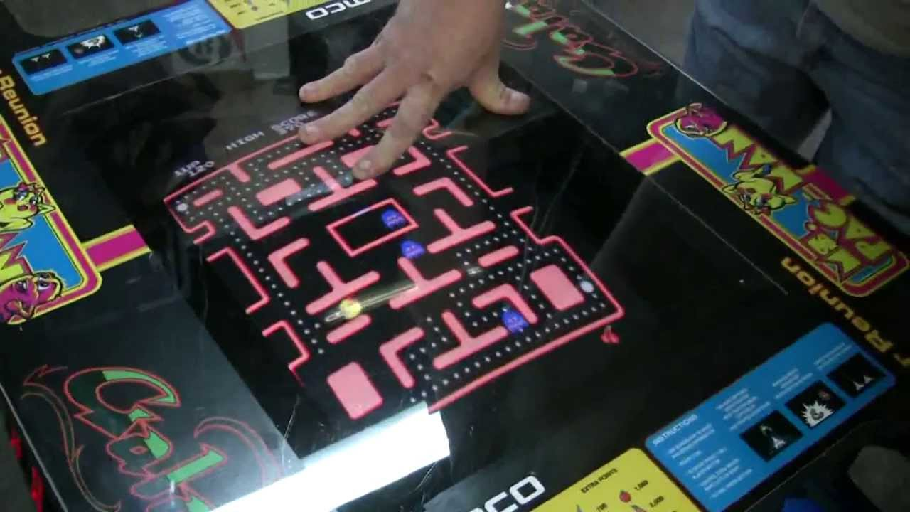 451 namco class of 81 cocktail table ms pacman/galaga arcade video