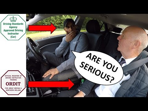 Driving Instructor Takes Driving Test |