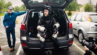 GRAVITY INDUSTRIES JET SUIT | Office Window Flyby | Loughborough University