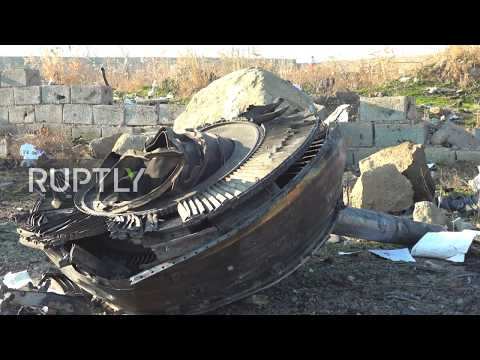 Iran: Devastating Scene At Ukrainian Airlines Crash Site